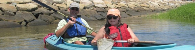 Jack and Brigid Downs in the kayak