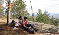 Snacking at the top of Silver Lake Mountain.